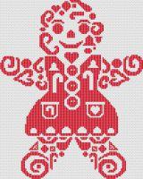 Tribal Gingerbread Woman