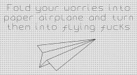 Blackwork Flying Fuck