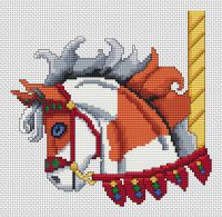 Sorrel Paint Carousel Horse Head PDF