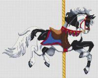 Black Paint Carousel Horse PDF