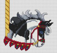 Black Paint Carousel Horse Head PDF