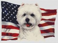 Patriotic West Highland Terrier